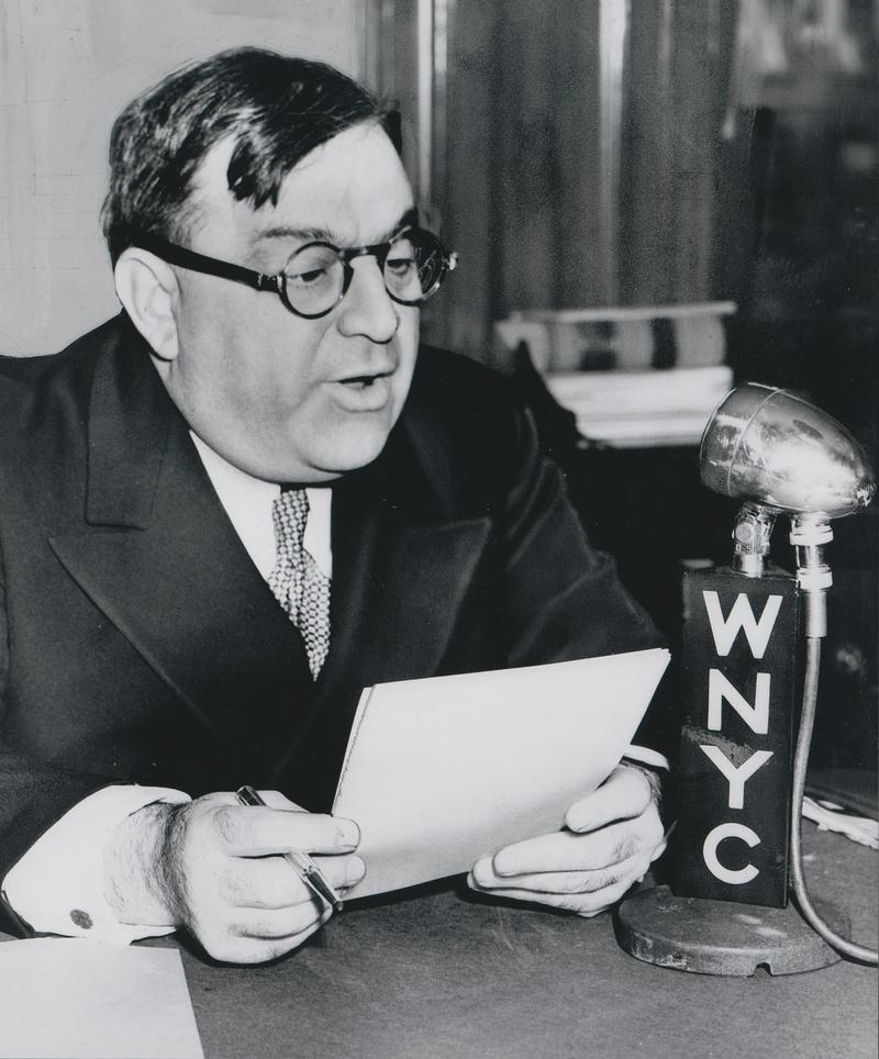 Mayor Fiorello La Guardia speaks on WNYC in 1940.