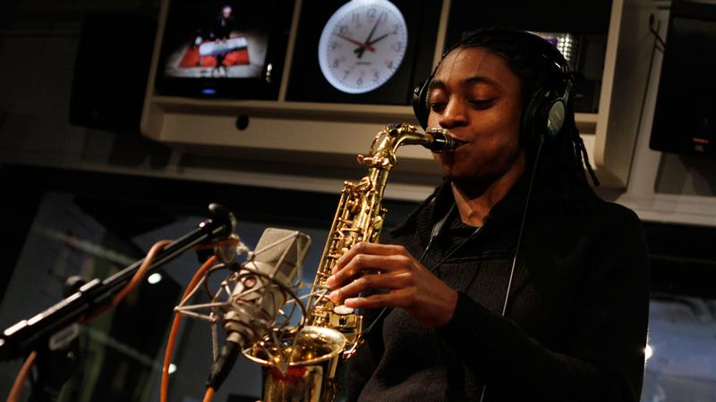 Lakecia Benjamin performs in the Soundcheck studio.