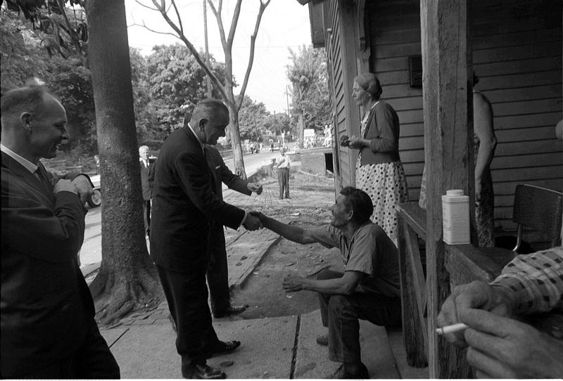 President Johnson on his 1964 poverty tour.