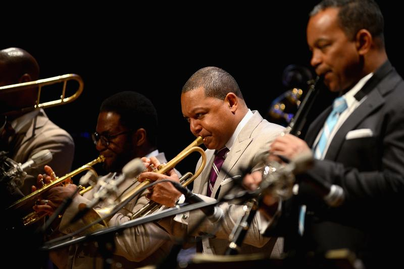 Wynton Marsalis performs with Jazz at Lincoln Center Orchestra during the Virginia Arts Festival at the Attucks Theatre on April 12, 2015 in Norfolk, Virginia.