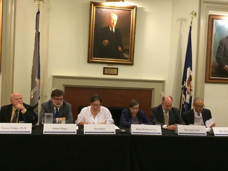 A Legislative Pay Commission discusses pay raises for New York state legislators