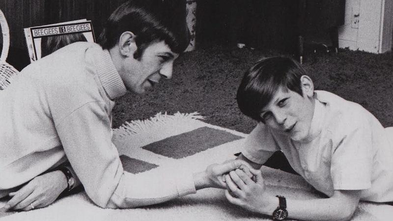 Leonard Nimoy pictured with his son, Adam.