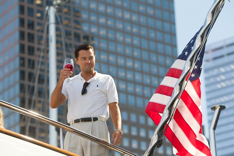 Leonardo DiCaprio in <em>The Wolf of Wall Street</em>