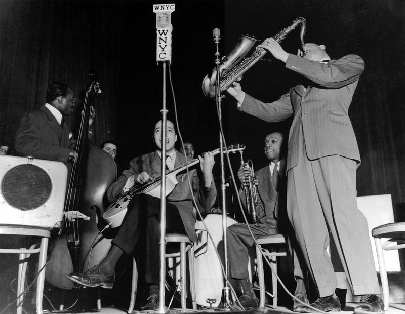 The Lester Young Band at performing at Manhattan Center for the WNYC American Music Festival, February 15, 1941.