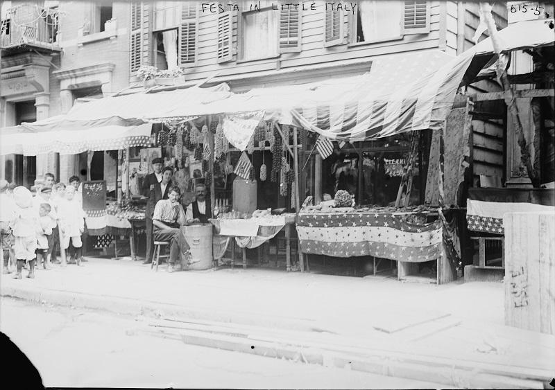 Life Is Beautiful: A 1910s street scene in the area of today's Little Italy.