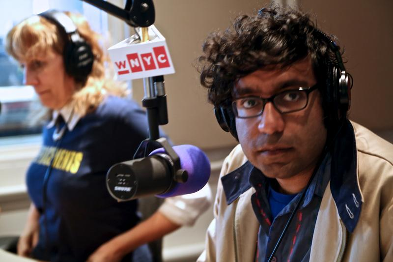 Hari Kondabolu and Lizz Winstead in the WNYC Studios