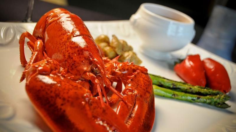 Lobster for dinner.
