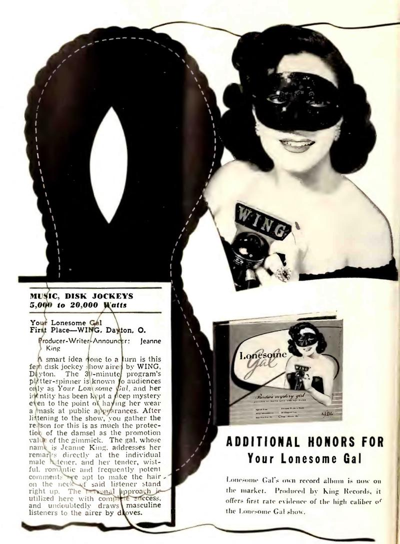 A late 1940s trade ad for The Lonesome Gal