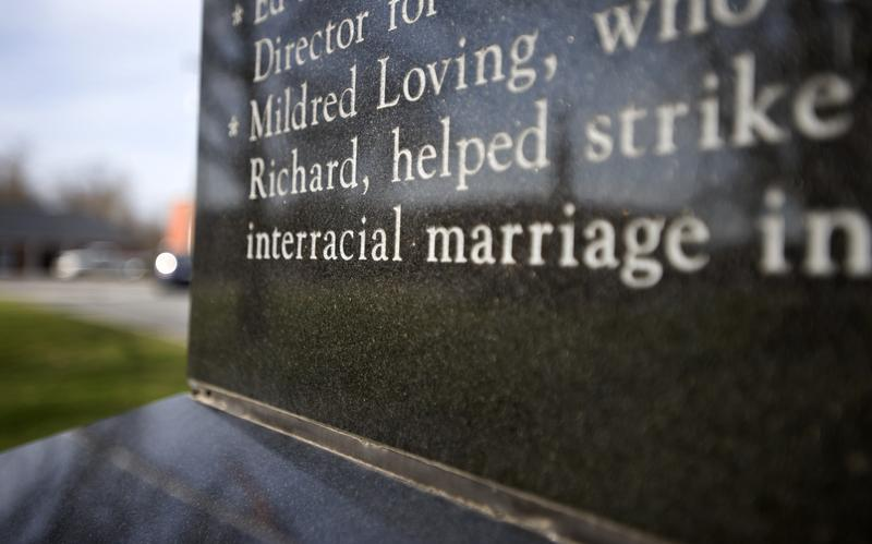 An inscription on a monument in Bowling Green, VA honors Mildred and Richard Loving who were instrumental in getting the Supreme Court to overturn the Act that prohibited interracial marriage in VA.