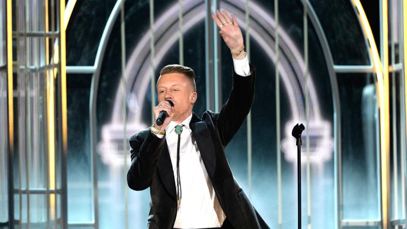 Rapper Macklemore performs during the 56th GRAMMY Awards at Staples Center on Jan. 26, 2014 in Los Angeles, Ca.