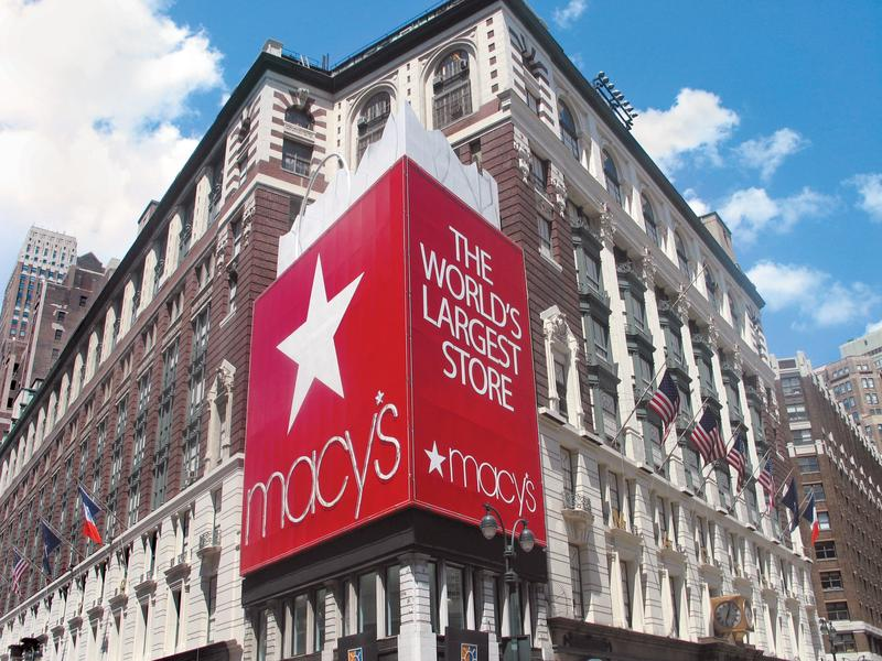 Macy's flagship store in Herald Square, where 1800 seasonal workers will be hired.
