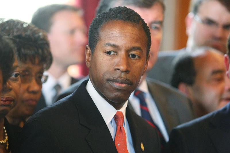 Former State Democratic Leader Malcolm A. Smith speaks to members of the media in the State Capitol March 12, 2008