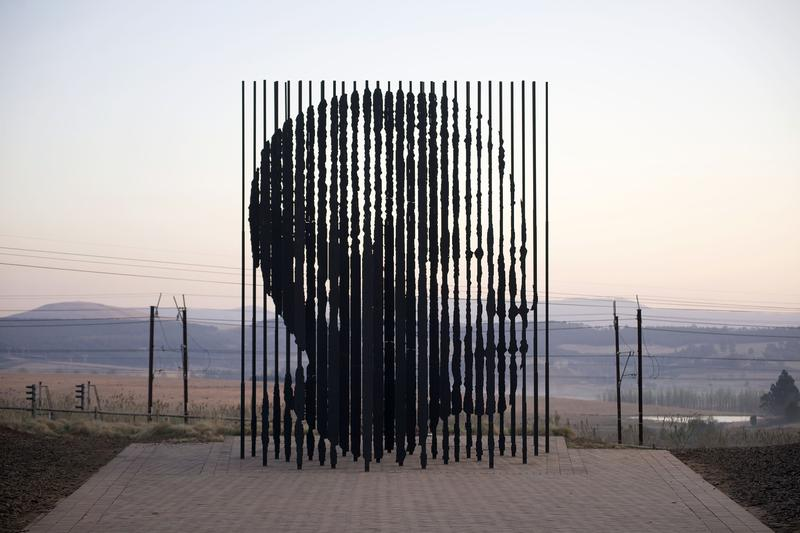 """The sculpture, """"Release"""" by Marco Cianfanelli in South Africa's Natal Midlands"""