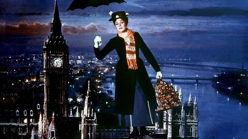 "'Mary Poppins' won five Academy Awards including Best Actress for Julie Andrews, Best Original Music Score, and  Best Original Song for ""Chim Chim Cher-ee."""