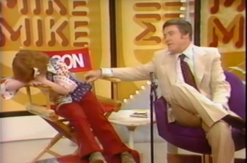 Mason Reese, a former child star, breaks down during a 1975 broadcast of The Mike Douglas Show.