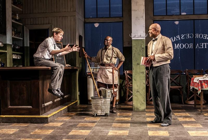 """Signature Theatre presents """"Master Harold"""" ...and the boys. Pictured (L-R): Noah Robbins, Sahr Ngaujah and Leon Addison Brown."""