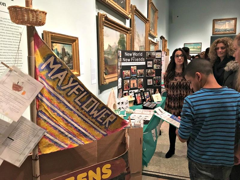 New York City school students presented social studies projects at the New York Historical Society.