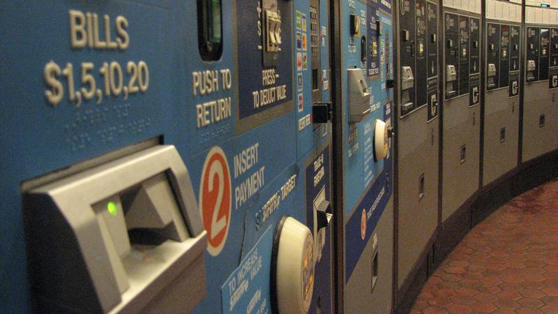 Payment kiosk in a D.C. Metro station