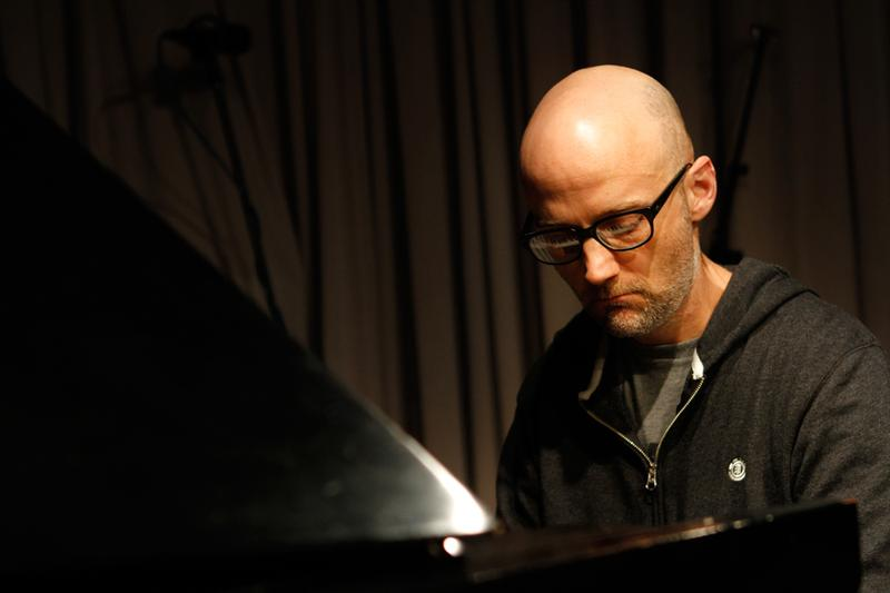 Moby performs in the Soundcheck studio.