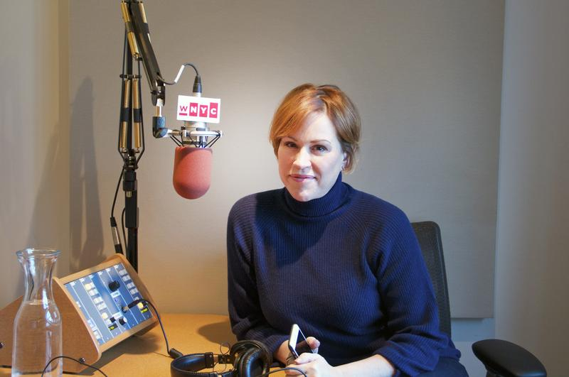 Molly Ringwald in the studio for The Naked American Songbook podcast.