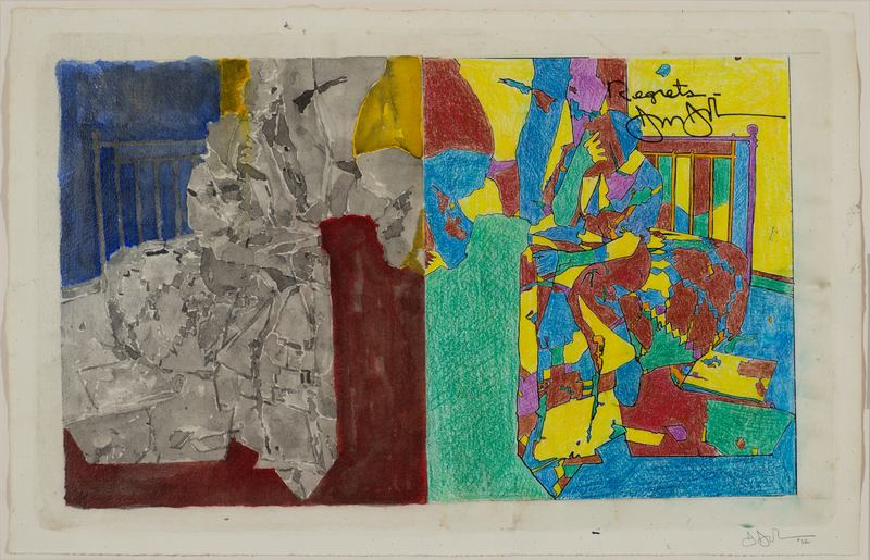 Jasper Johns (American, born 1930). Study for Regrets. 2012.