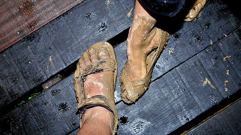 How are you getting that festival mud off of your shoes?