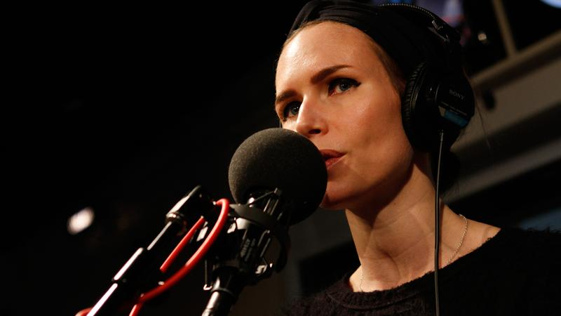 Nina Persson performs in the Soundcheck studio.
