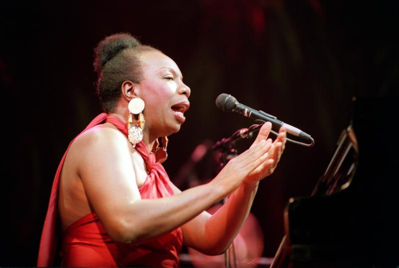Legendary jazz and blues singer Nina Simone  in concert at the Olympia Music Hall in Paris in 1991.