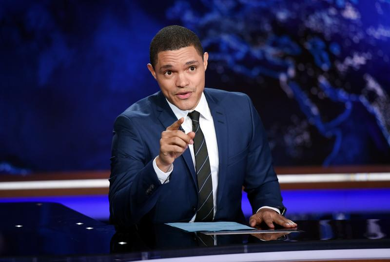 "Trevor Noah taping ""The Daily Show""  on September 29, 2015"