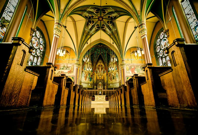 One of Andrew Norman's structural inspirations—Roman Catholic churches