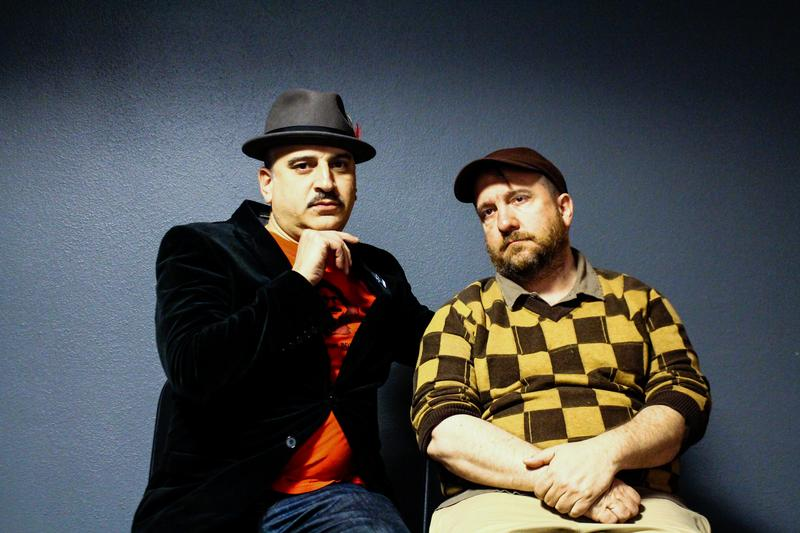 Julian Fleisher and Stephin Merritt at the New York Library for the Performing Arts