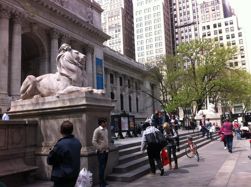 The New York Public Library's main branch currently houses its main research collection, May 7, 2014.