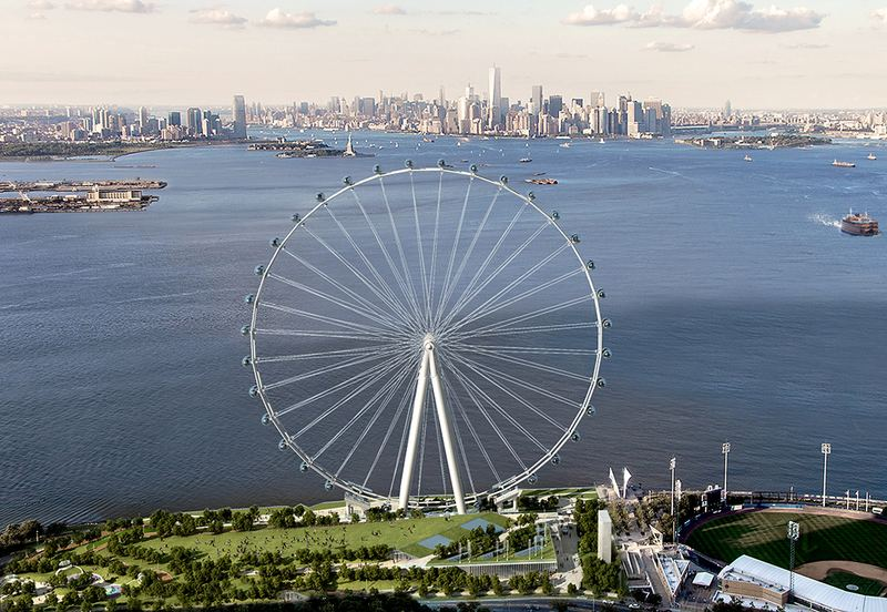 The New York Wheel will be 60 stories tall. Each of its capsules can carry 40 people.