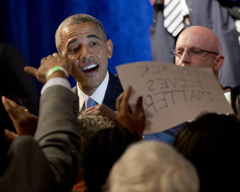 President Barack Obama addresses Organizing for Action Summit in Washington, 4/23/2015