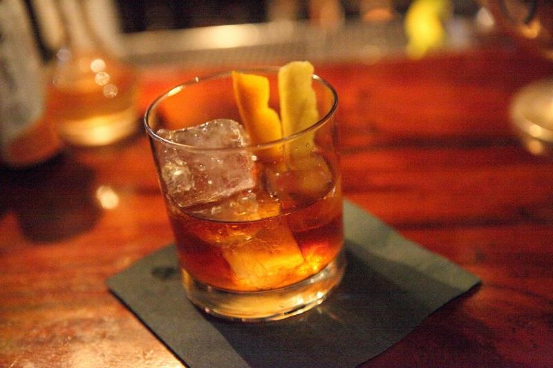 An old fashioned, the quintessential whiskey cocktail.