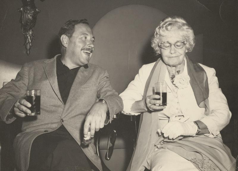tennessee williams in the bar of a tokyo hotel