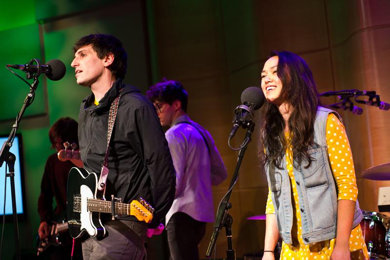 The Pains Of Being Pure At Heart perform in WNYC's Greene Space as part of Gigstock, co-presented by Soundcheck and Oh My Rockness.