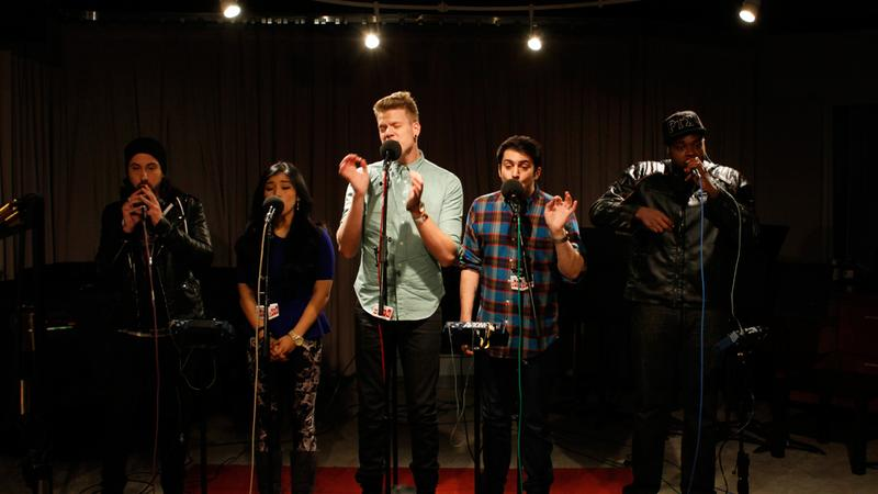 Pentatonix performs in the Soundcheck studio.