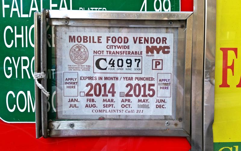 Every food vendor in New York must display a city-issued permit with a unique ID number