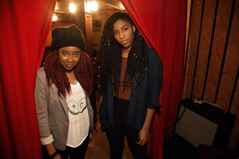 Phoebe Robinson (left) and Jessica Williams co-host the new '2 Dope Queens' podcast.
