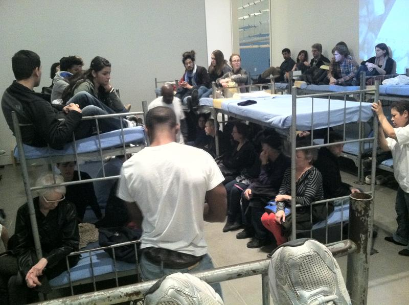 Performance by the LAPD, or the Los Angeles Poverty Department, at the Queens Museum