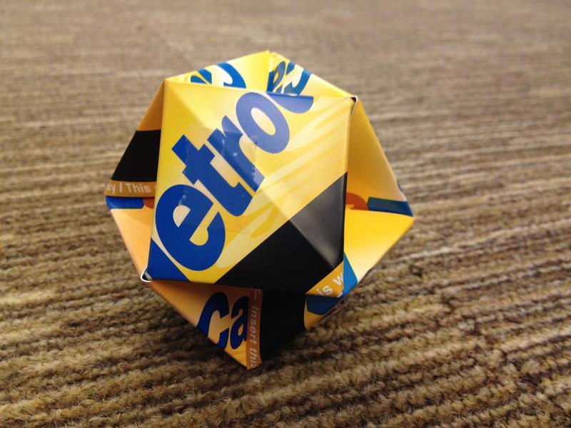 MetroCard origami