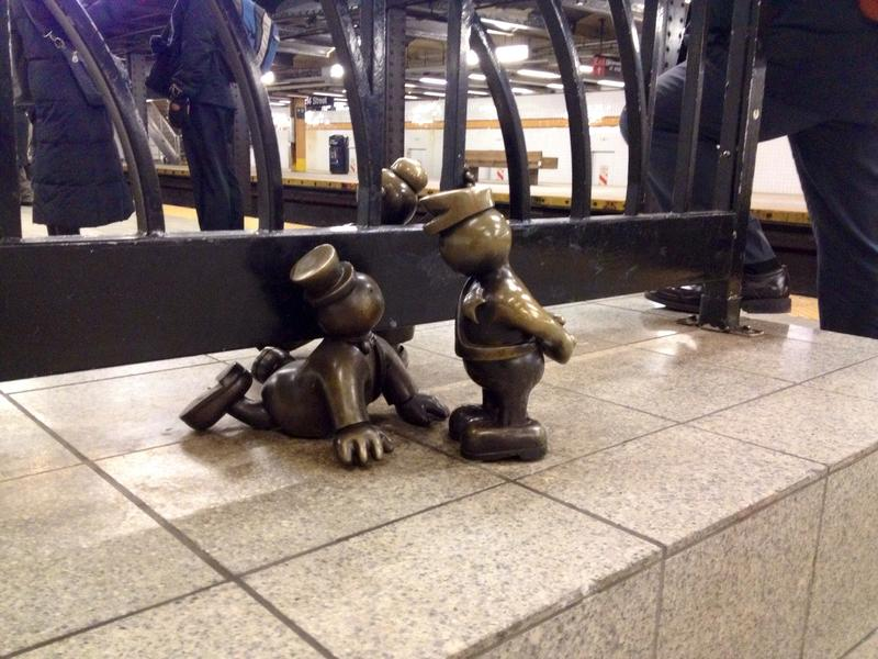 Fare evasion, as rendered by an MTA 'Arts for Transit' sculpture