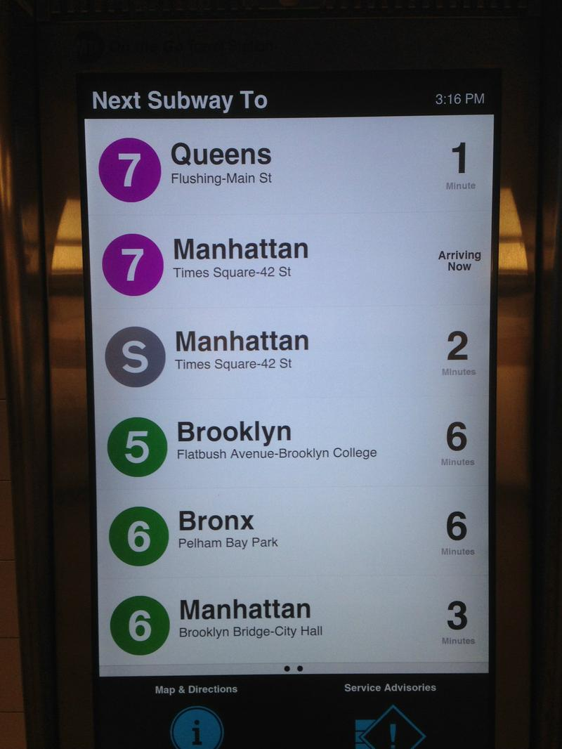 MTA 'On the Go' information kiosk