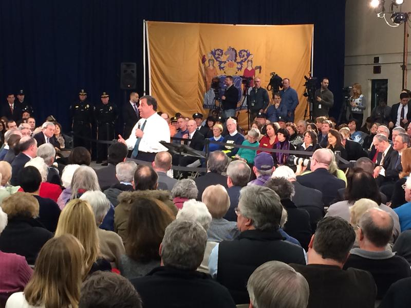 Gov. Christie speaks at a town hall meeting in Long Hill, NJ, on Tuesday, Feb. 26.