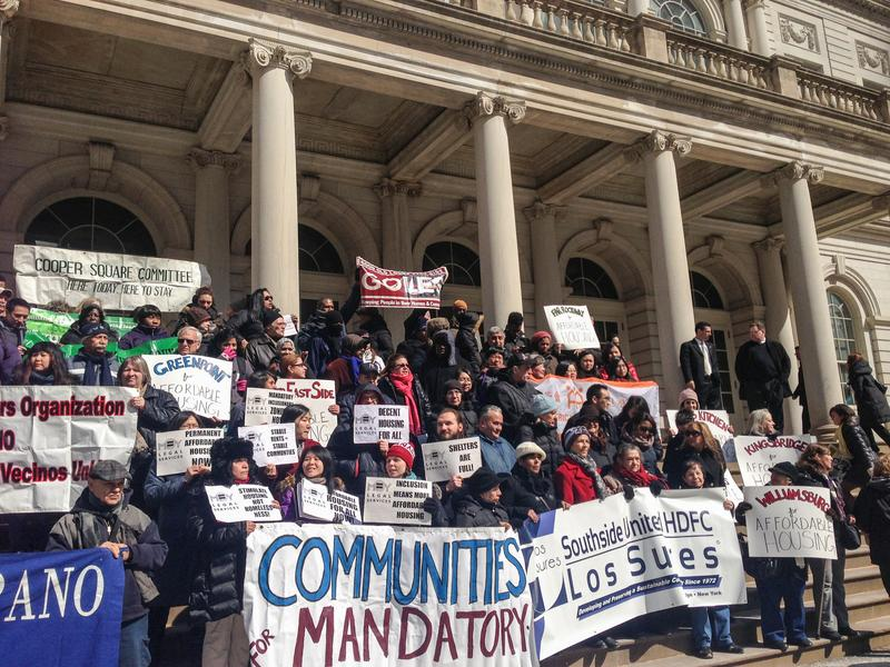 Affordable Housing Advocates Rally at City Hall