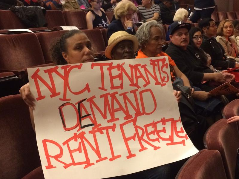 Tenants called for a rent freeze