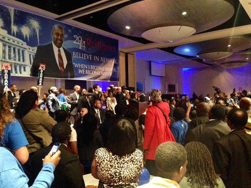 Mayor-elect Ras Baraka at his election night party.