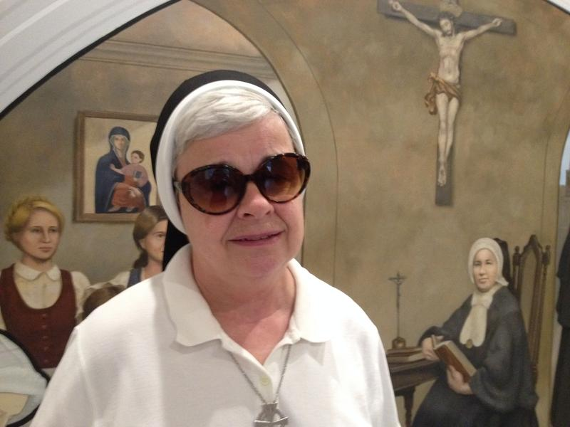 Sister Denise Martin inside the new St. Joseph Hill convent months after a fire severely damaged their old house.