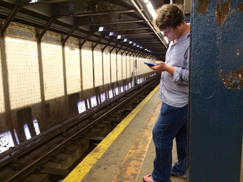Cell phones on the subway